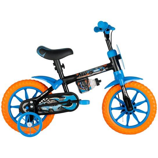 7a460b654 Bicicleta Caloi Hot Wheels Infantil - Aro 12 - Preto+Azul