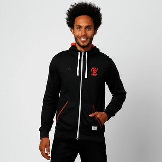 15a7ab167ba Jaqueta Adidas Flamengo c  Capuz