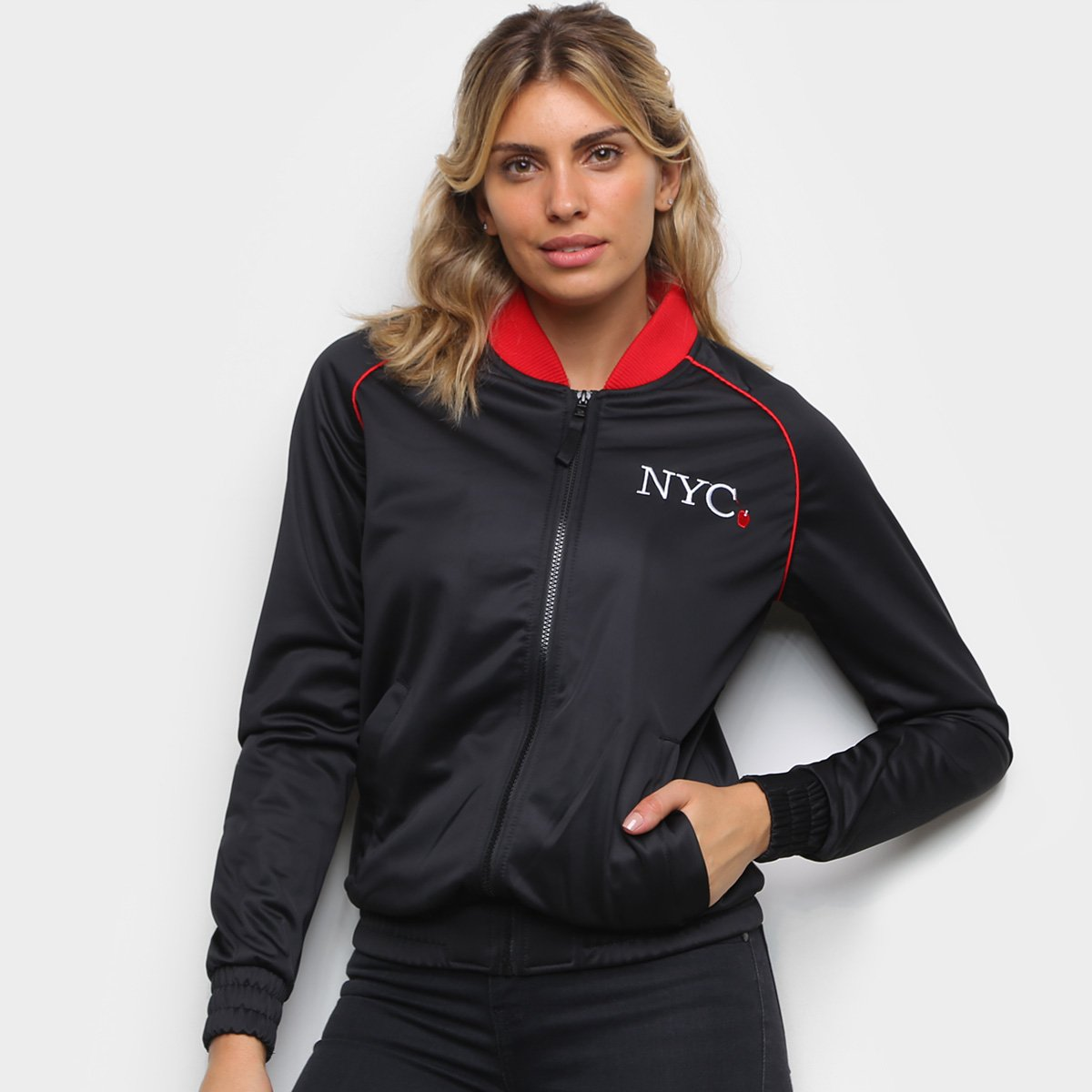 Jaqueta New Era Track NYC Apple Feminina