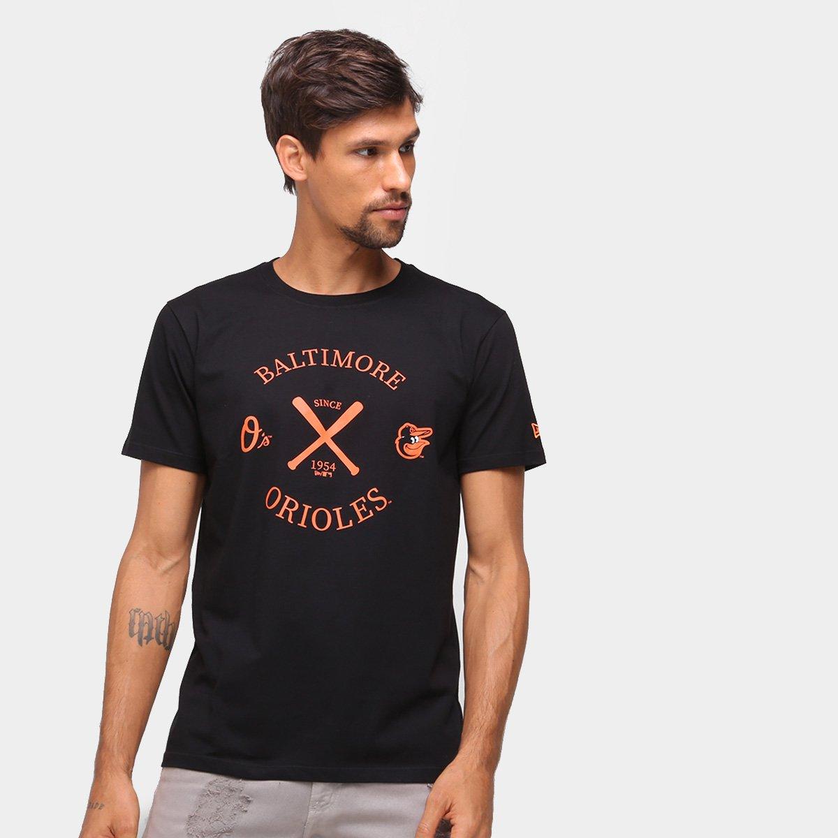 Camiseta MLB Baltimore Orioles New Era College Masculina