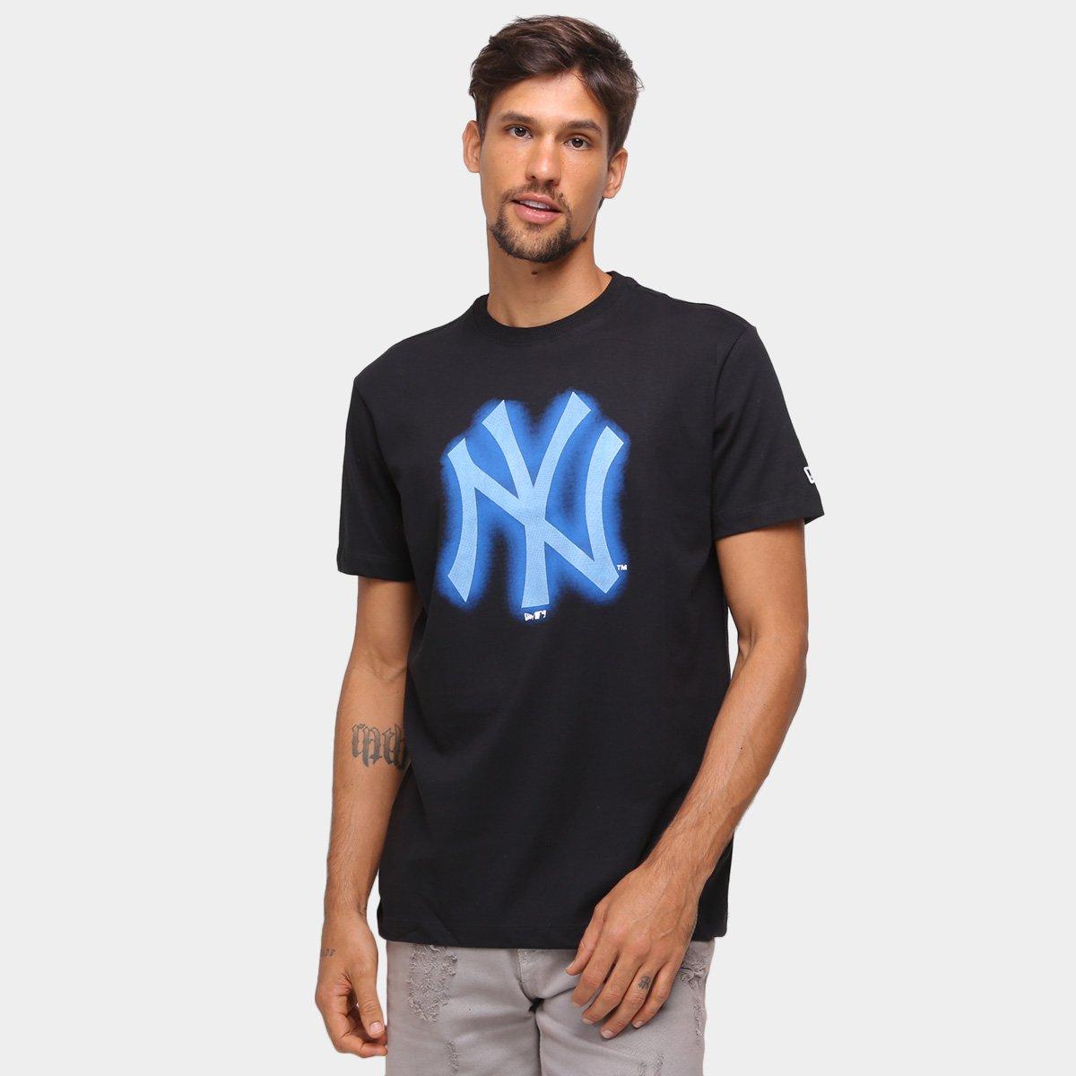 Camiseta MLB New York Yankees New Era Rave Space Glow Masculina