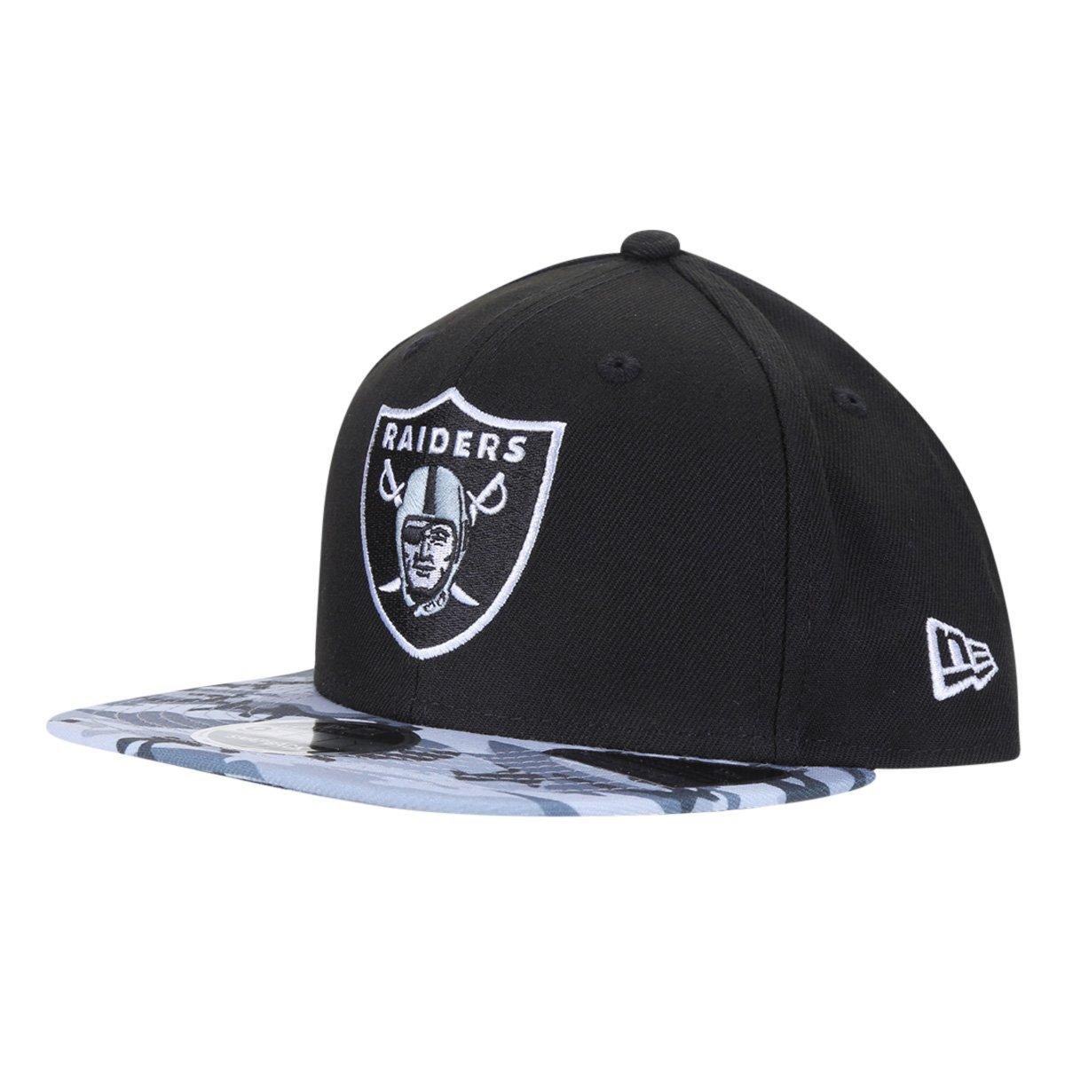 Boné New Era NFL Las Vegas Raiders Aba Reta Strapback Military Visor 9Fifty