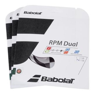 Corda Babolat RPM Dual 16L 1.30mm - Pack com 3 Sets