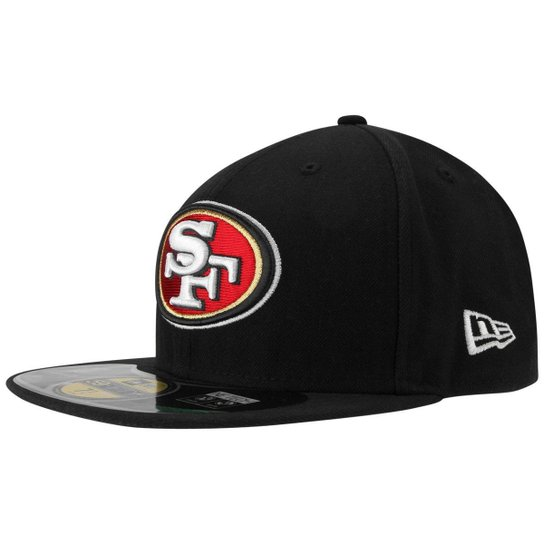 82ad9b18817b6 Boné New Era NFL 5950 Evergreen San Francisco 49ers Team Color - Preto
