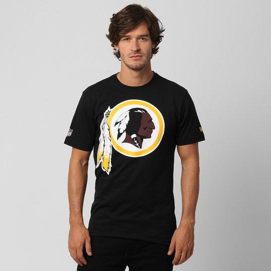 6953c4c34 Camiseta New Era NFL Washington Redskins - Preto - Compre Agora ...