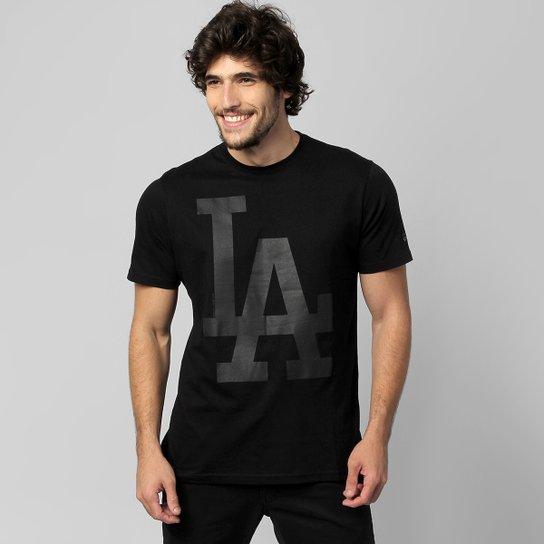 ab635da40fed3 Camiseta New Era MLB Color Los Angeles Dodgers 10 - Preto - Compre ...