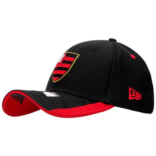 Boné New Era Flamengo - Preto+Vermelho 487e552eac1