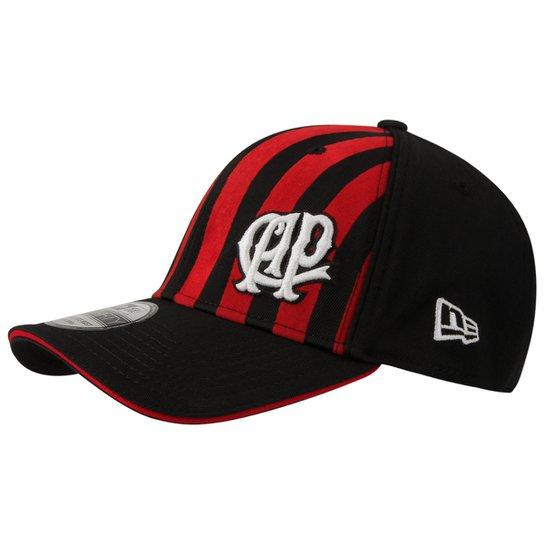 Boné New Era Athletico-PR Aba Curva Masculino - Preto+Vermelho 5bde411c641