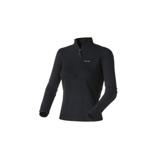 bd13c0af2 Blusa Solo X-Thermo Ds Zip Lady - Preto