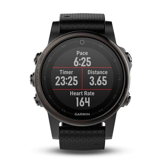 099ac005b56 Monitor Cardíaco Garmin Fênix 5S Safira Com GPS - Preto - Compre ...