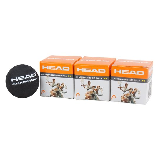 7270d4a576 Bola de Squash Head Championship Pack com 03 Unidades - Compre Agora ...
