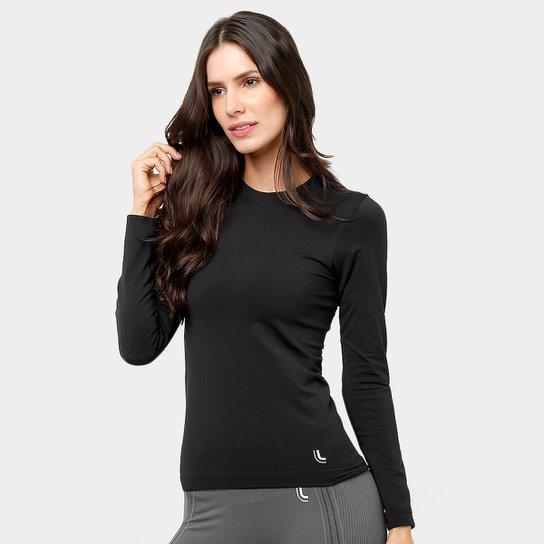 Camiseta Lupo Sport Com Proteção UV Manga Longa Feminina - Preto ... 323933b6281aa