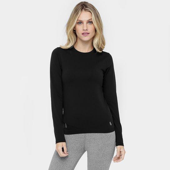Camiseta Lupo Underwear Warm Manga Longa Feminina - Preto - Compre ... 1b11735c438ba