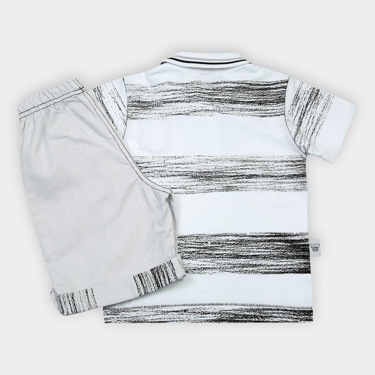 d1142ad6e023a Foto 2 - Conjunto Corinthians Infantil Camisa Polo e Bermuda