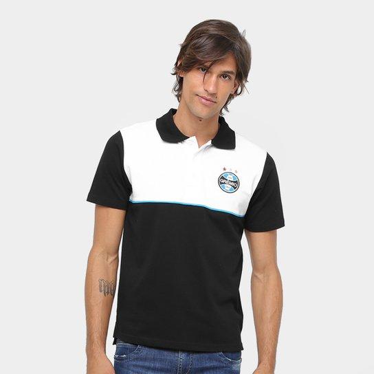 Camisa Polo Grêmio Masculina - Preto - Compre Agora  247d82a422106