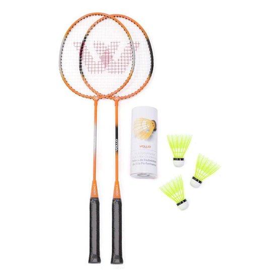 18ba40a47 Kit Badminton Vollo - 2 Raquetes + 3 Petecas - Compre Agora
