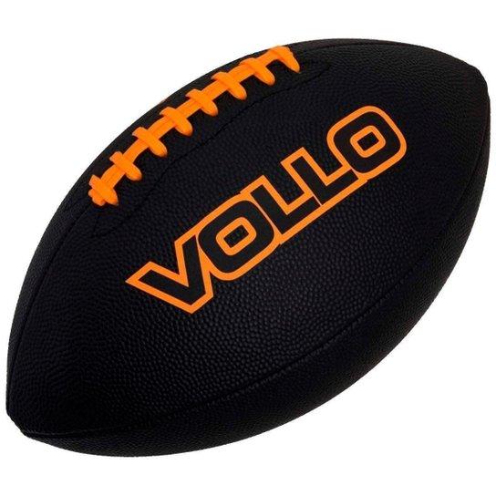 Bola de Futebol Americano VOLLO VF002 PVC Preta - Preto - Compre ... b7c7c533d8a