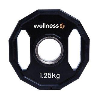 4a14eb15c5e99 Anilha Poliuretano Wellness - Furação Olímpica - 12 faces com pegadas - 1