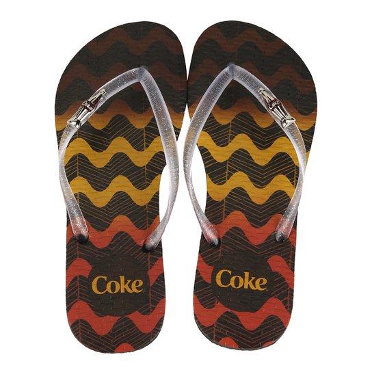 8f5e8ec13 Chinelo Coca-Cola Tribal Waves Feminino - Compre Agora