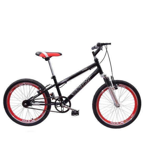 030a680b6f720 Bicicleta Aro 20 Ultra Cross Bmx Garfo de Suspensão V-Break - Preto ...