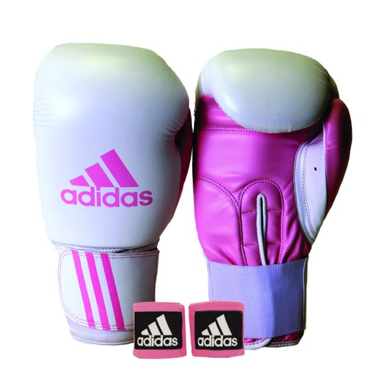 a7dd5bd2b Kit Luva de Boxe Muay Thay Adidas Response + Bandagem 2