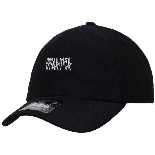 Boné Starter Aba Curva Strapback Pixo  Dad Hats  - Preto - Compre ... 02322373f21