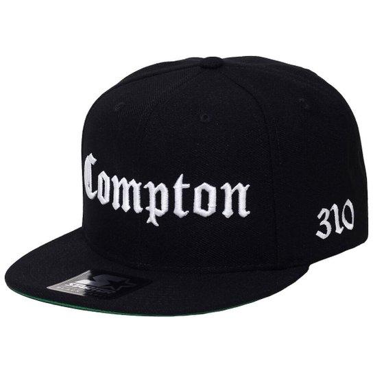 Boné Starter Aba Reta Snapback Compton - Preto - Compre Agora  a2c3af00e13
