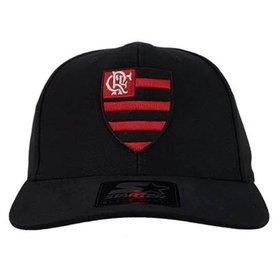 f5edfd0d98188 Boné Flamengo 6G Snap Black Logo Oficial Starter