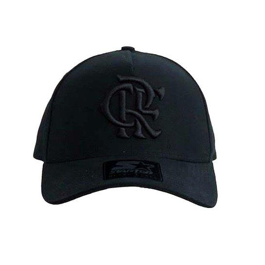 e6286c3d6 Boné Flamengo Aba Curva CRF Bordado Black Starter UN - Compre Agora ...