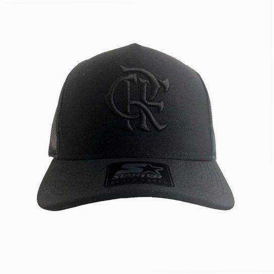 Boné Flamengo CRF Bordado Black Starter - Preto - Compre Agora ... 0e0a14ab405