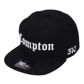 Boné Starter Aba Reta Snapback Compton 310 Preto cba517dede4