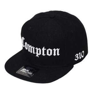 Boné Starter Aba Reta Snapback Compton 310 Preto 460b5a68298