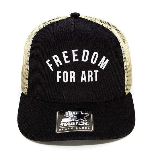 360d8f1cda Boné Trucker Starter Freedom For Art Aba Curva - Preto | Netshoes