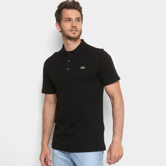 49d387bf3e9 Camisa Polo Lacoste Super Light Masculina - Preto - Compre Agora ...