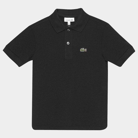 Camisa Polo Lacoste Piquet Infantil - Preto - Compre Agora   Netshoes ecdc0f1d0c