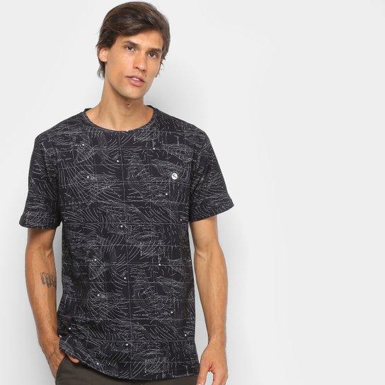 e5dd1165873d4 Camiseta Lost Wave Map Masculina - Preto - Compre Agora