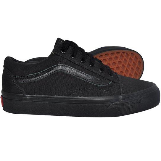 6ab8f302167b9 Tênis Vans Old Skool Canvas Preto - 35 | Netshoes