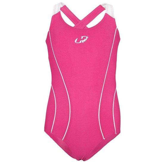 ac0be6600 Maiô Hammerhead Infantil Swim Active Impermeável - Rosa+Branco