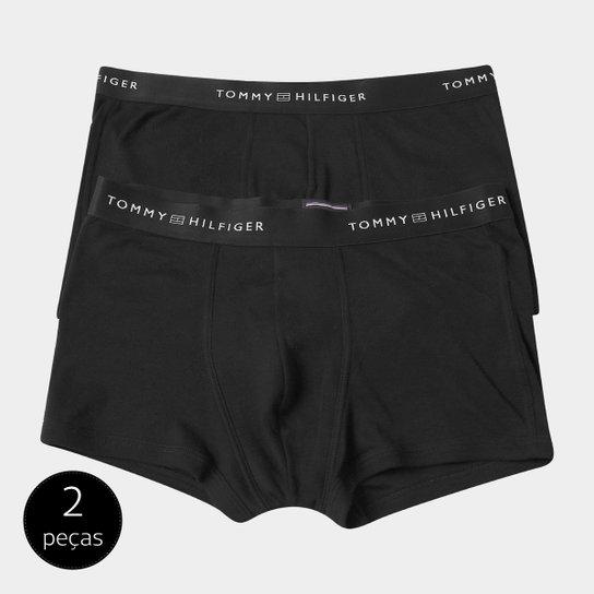 3638a17604f55b Cueca Tommy Hilfiger Boxer Pack c/ 2 Peças - Preto