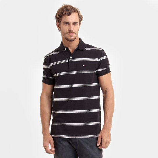 994f6d970 Camisa Polo Tommy Hilfiger Piquet Listras - Compre Agora