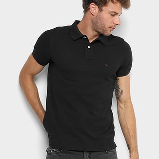 ff94882e3 Camisa Polo Tommy Hilfiger Slim Fit Clássica Masculina