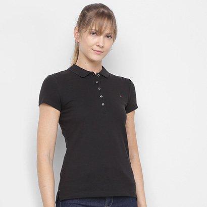 Camisa Polo Tommy Hilfiger C/ Botões Feminina