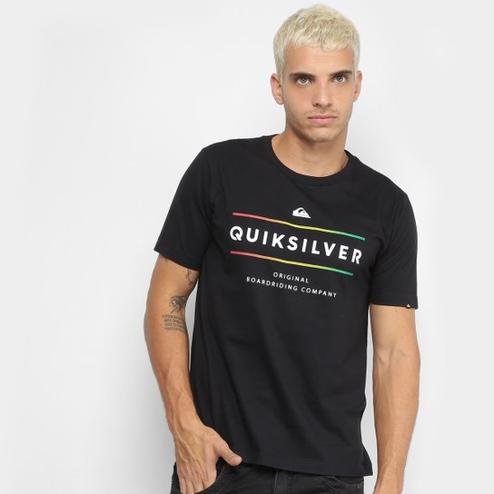 4ba7c5cc847c7 Camiseta Quiksilver Reverso Surf Masculina - Preto - Compre Agora ...