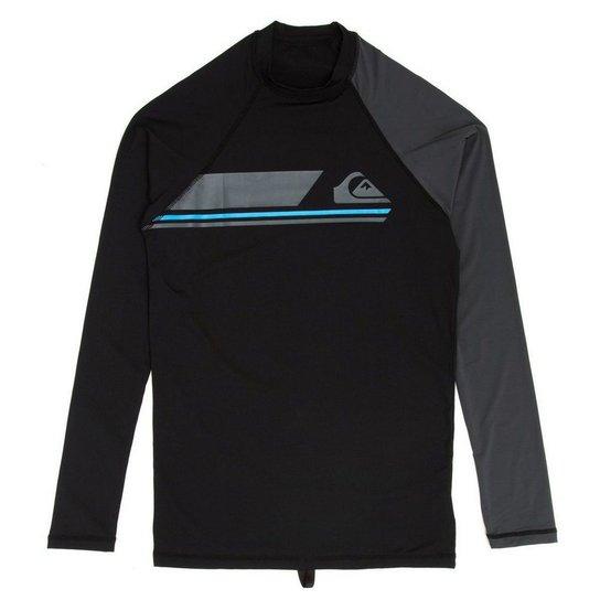 Camiseta Surf Lycra Quiksilver Manga Longa Active LS - Preto ... 1cf772d003