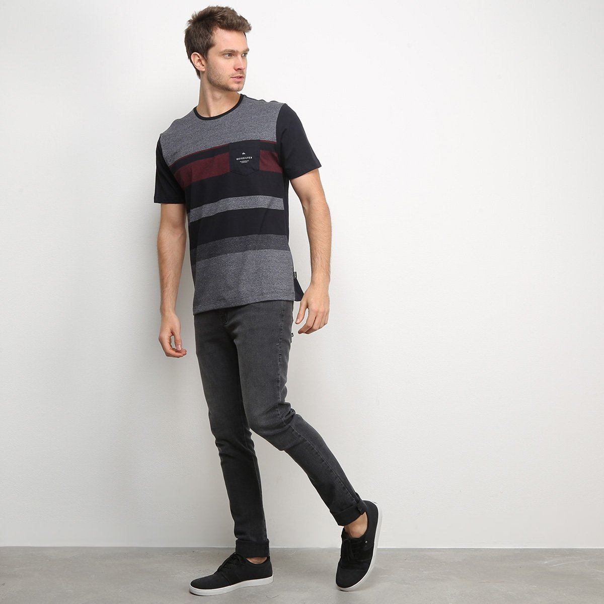 Camiseta Quiksilver Esp Vista Masculina - Tam: G - 2