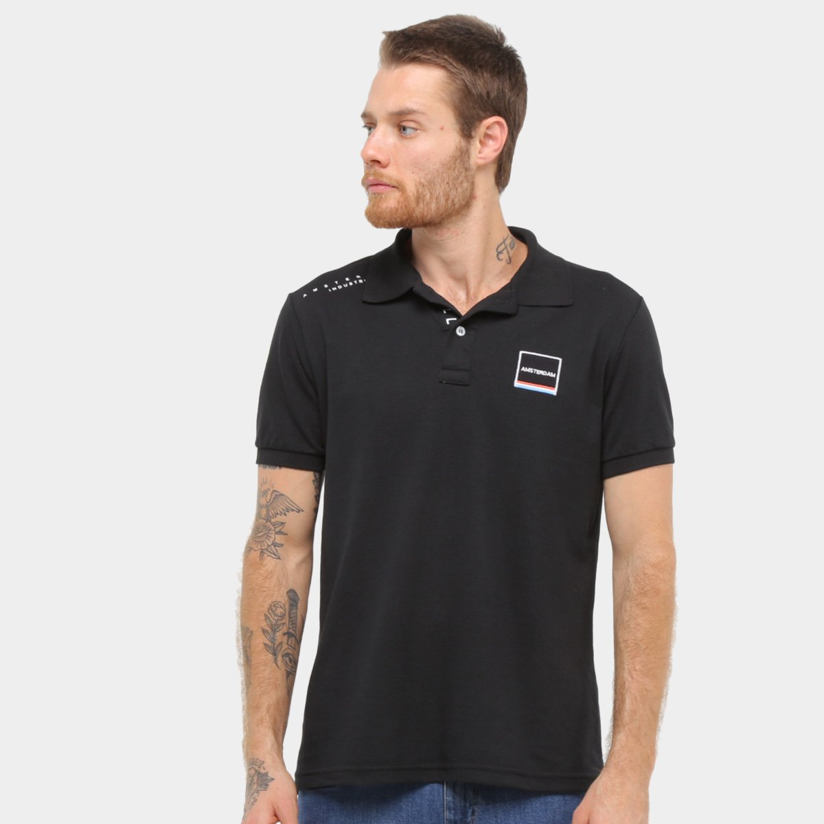 Camisa Polo Industrie Amsterdã Masculina