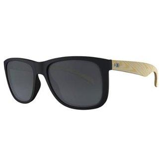 e90ff42924c72 Óculos de Sol Ozzie Matte Wood Gray Lenses HB