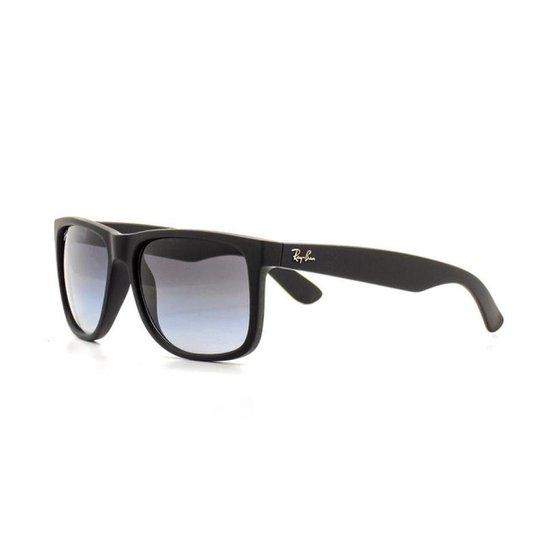 74b41b57a Óculos de Sol Ray Ban Justin Quadrado Proteção UV Masculino - Preto ...