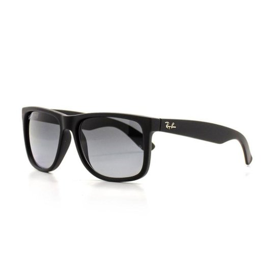 0f934ba94 Óculos de Sol Ray Ban Justin Quadrado Dia a Dia Masculino - Preto ...