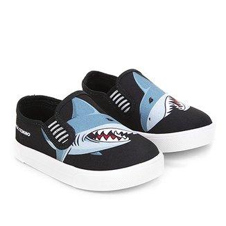 908f1e6b68b Slip On Infantil Molekinho Tubarão Masculino